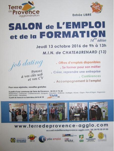 14EME SALON DE L'EMPLOI DE CHATEAURENARD LE JEUDI 13 OCTOBRE 2016