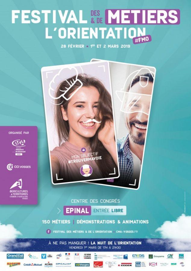 FESTIVAL DES MÉTIERS ET DE L'ORIENTATION DU 28 FÉVRIER AU 2 MARS 2019 À EPINAL