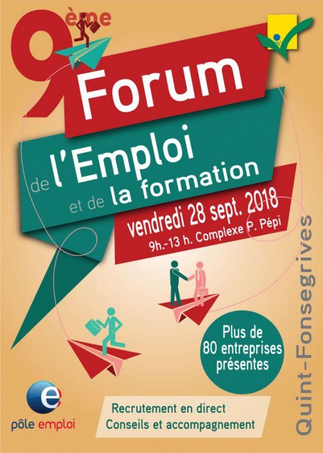 FORUM DE L'EMPLOI ET DE LA FORMATION LE 28 SEPTEMBRE 2018 À QUINT-FONSEGRIVES