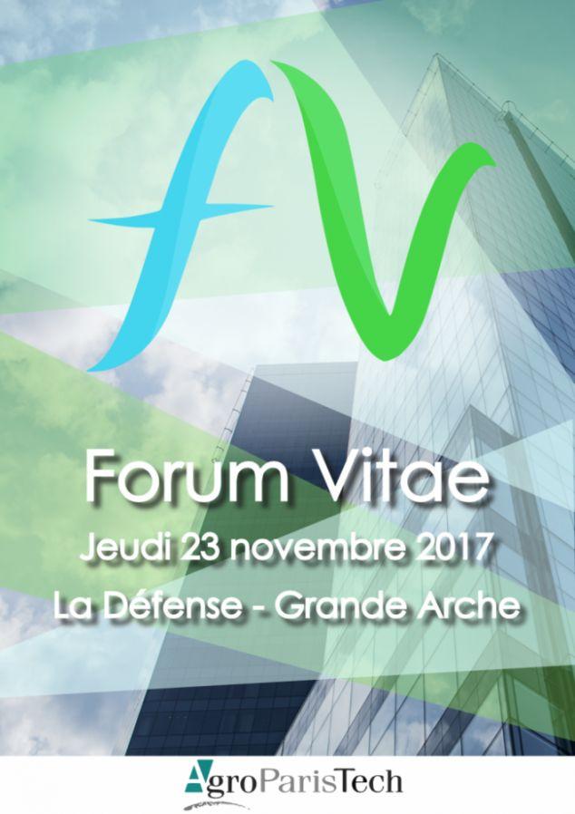 FORUM VITAE AGROPARISTECH LE 23 NOVEMBRE 2017 À L'ESPACE GRANDE ARCHE DE LA DÉFENSE