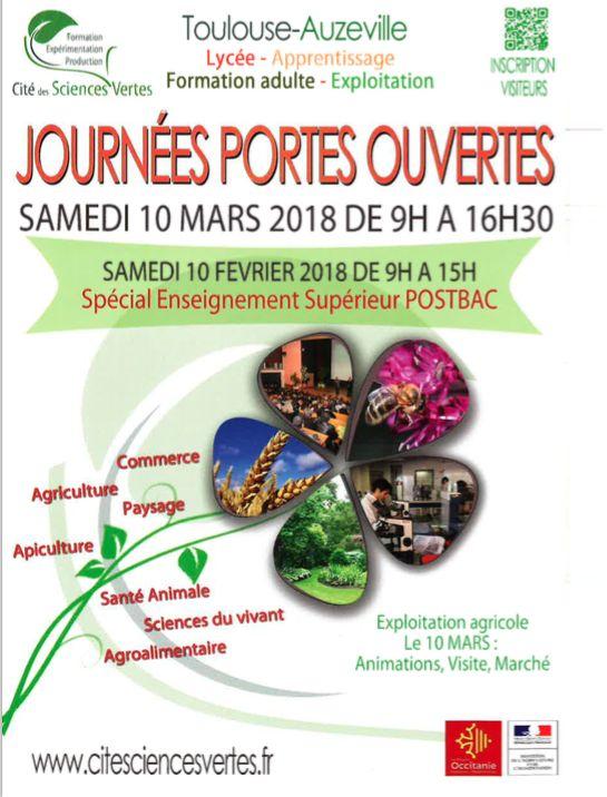JOURNEES PORTES OUVERTES AU CFAAH AUZEVILLE LE 10 MARS 2018