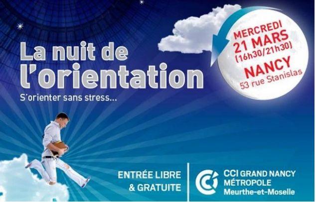 La nuit de l'orientation à Nancy - le 21 mars 2018 de 16h30 à 21h30