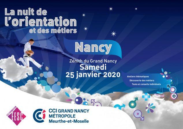 La nuit de l'orientation et des métiers à Nancy - le 25 janvier 2020 de 16h30 à 21h30