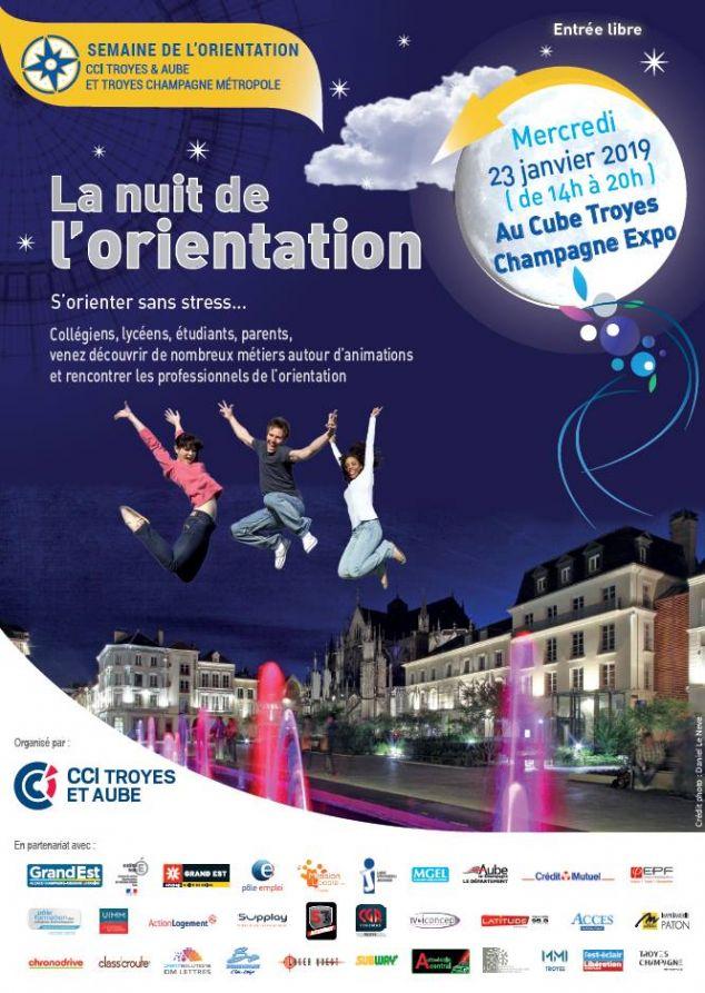 LA NUIT DE L'ORIENTATION LE 23 JANVIER 2019 AU CUBE TROYES CHAMPAGNE EXPO