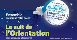 Nuit de l'Orientation et du parcours professionnel à Strasbourg le 13 janvier 2018