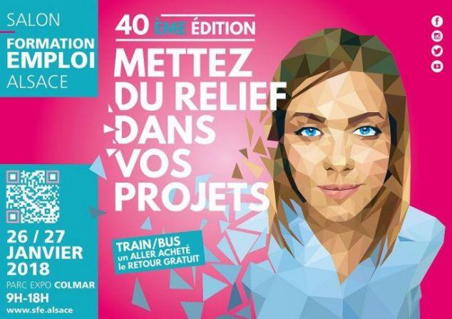 Salon Formation Emploi  Alsace à Colmar, les 26 et 27 Janvier 2018